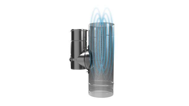Abbildung: Feinstaubpartikelabscheider auf dem Prinzip der elektrostatischen Abscheidung.