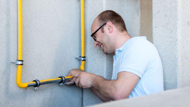 Foto: Boagaz-Rohre für die Gasinstallation - Biegsamkeit bietet vor allem dem ausführenden SHK-Fachhandwerk Vorteile in der Baupraxis.