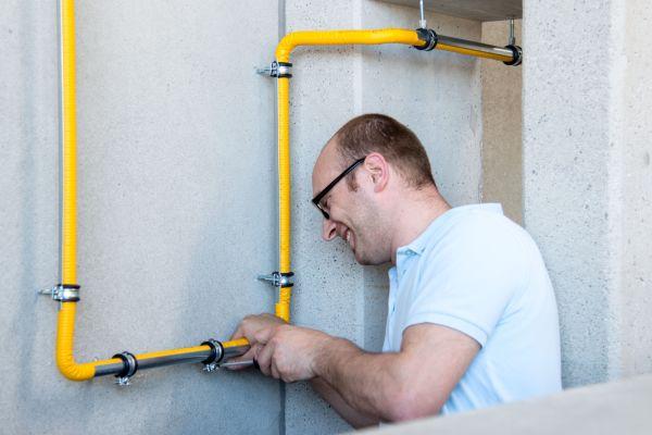 Gas ganz geschmeidig installieren