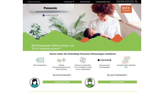 Das Bild zeigt einen Screenshot der Firma Panasonic