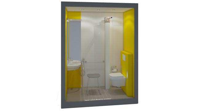 So kann ein pflegegerecht saniertes Gäste-Bad aussehen