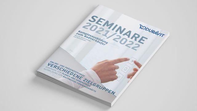 Das Bild zeigt die Seminarbroschüre.