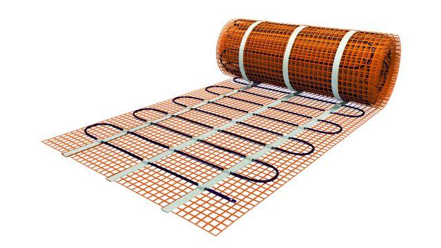 Das Bild zeigt eine Fußbodenheizung