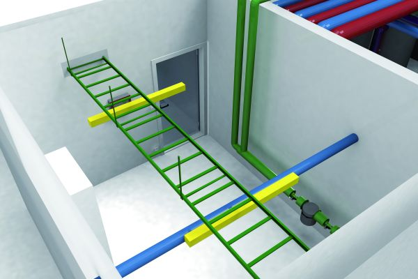 Mit der gewerkeübergreifenden Kollisionsprüfung von DDS-CAD stellt ibz sicher, dass Elektroinstallation und Rohrnetz nicht zusammenstoßen.
