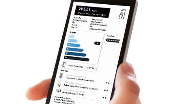Das Bild zeigt ein Handydisplay mit WELL-Label.