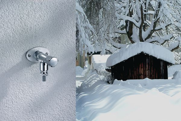 Frostschäden an Wasserleitungen vermeiden!