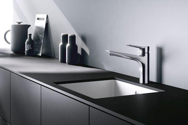 Küchenarmatur KLUDI MIX: angenehme und komfortable Bedienung. Zugleich schnörkelloses Design, wahlweise in trendbewusstem, edlem Mattschwarz oder glänzendem Chrom.