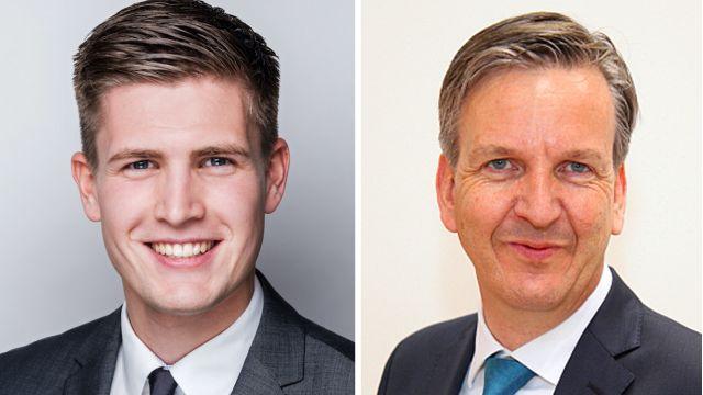 Das Bild zeigt Niels Gram und Jörg Hasse.