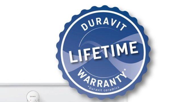 Das Bild zeigt einen Waschtisch und das Duravit-Zertifikat.