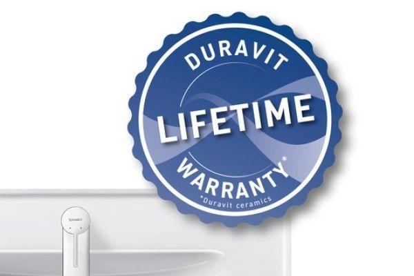 Duravit vergibt Garantie auf Lebenszeit