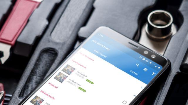 App in der Anwendung auf dem Smartphone