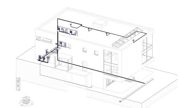 Hier erkennt man eine Zeichnung zur Planung mit dem Geberit Plug-In.