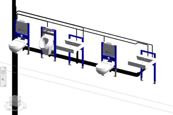 """Das neue Geberit BIM Plug-in ermöglicht die Planung und Berechnung von Geberit Produkten in einer einzigen Anwendung mit verschiedenen, lizenzierbaren Modulen: den BIM-Katalog, das """"Geberit Pluvia"""" Modul und das Installationssysteme-Modul."""