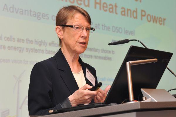 Fiona Riddoch, Geschäftsführerin von Cogen Europe, informierte in Berlin über die Rolle der KWK in Europa.