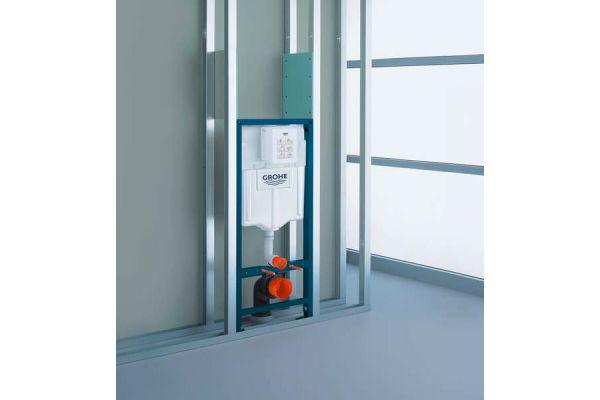 WC-Vorwandinstallation mit vorgefertigtem Sanitärmodul