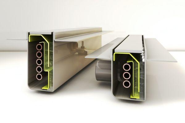 Bei der Duschrinne Joulia hat der Kunde die Wahl: Maximale Effizienz oder minimale Einbauhöhe.