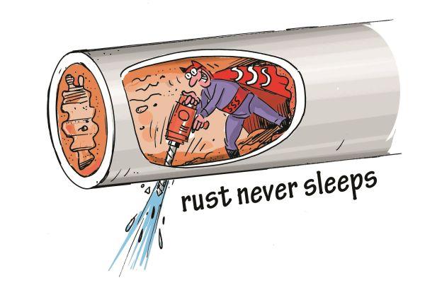 Cartoon zum Thema Rost.