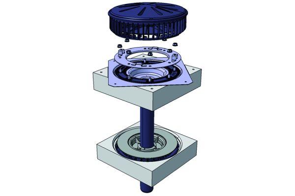 Dachwassereinlauf für das Unterdruck-Entwässerungssystem Pluvia