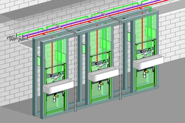 Die Grafik zeigt ein Installationsbeispiel aus einer Pflegeeinrichtung.
