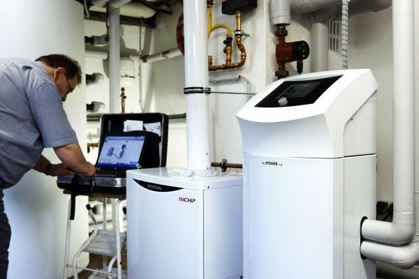 Das Kraft-WärmeKopplungsgesetz fördert den Einsatz von Mini-BHKW.