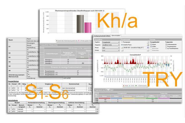 Softwareprogramm arbeitet mit thermischer Gebäudesimulation