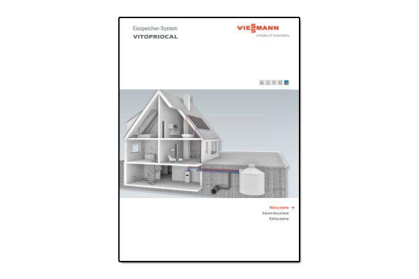 Broschüre über ein Eisspeichersystem