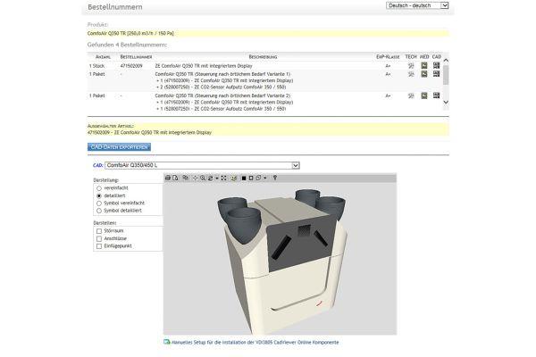 Zehnder weitet Bereitstellung von BIM-Produktdaten aus