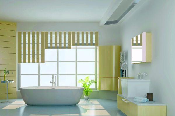Ein Bad mit elektrischer Fußbodenheizung.