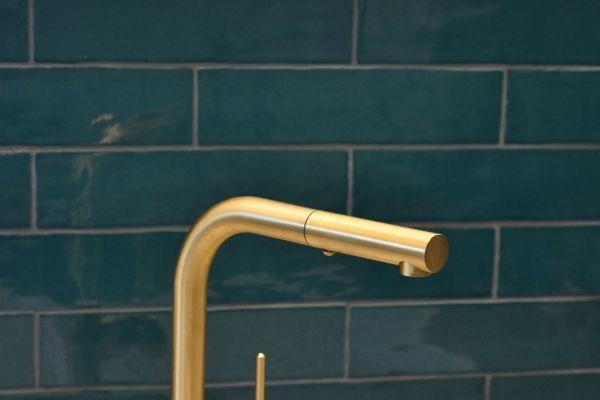 Eine Badarmatur von Graff mit Goldfinish.
