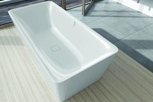 Das Bild zeigt das weiße, rechteckige Badewannen-Modell