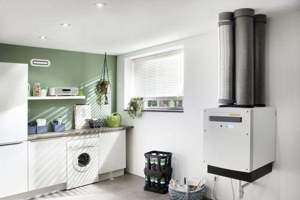 """""""profi-air"""", das Komplettsystem für die Kontrollierte Wohnraumlüftung von Fränkische umfasst Lüftungsgeräte, Designgitter und die flexiblen Rohrsysteme."""