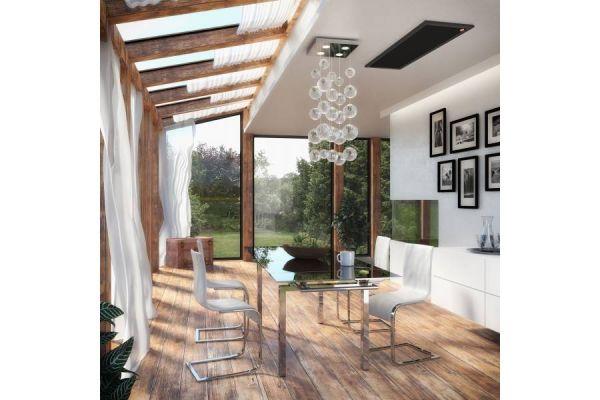 Ein Esszimmer mit einer Infrarot-Deckenheizung von easyTherm.