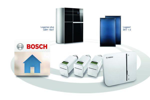 Heizungsanlagen von Buderus und Junkers lassen sich über eigene Netzwerk-Gateways der Hersteller lokal und übers Internet fernsteuern. Für ein übergreifendes Energiemanagement entwickelt Bosch Thermotechnik einen EEBUS-kompatiblen Energiemanager, der in das Smart Home System von Bosch integriert wird.
