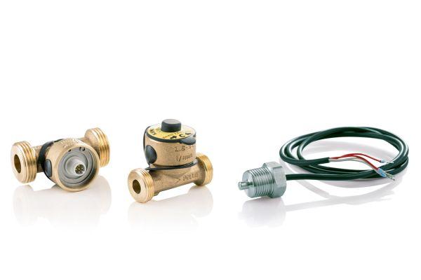 Zur Überwachung von Temperatur- und Durchflusswerten an bestimmten Stellen innerhalb der Leitungsanlage stehen im Geberit-Sortiment Sensorarmaturen zur Verfügung.
