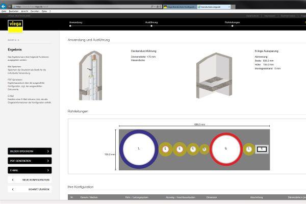 Viega Brandschutz-Konfigurator ist jetzt online