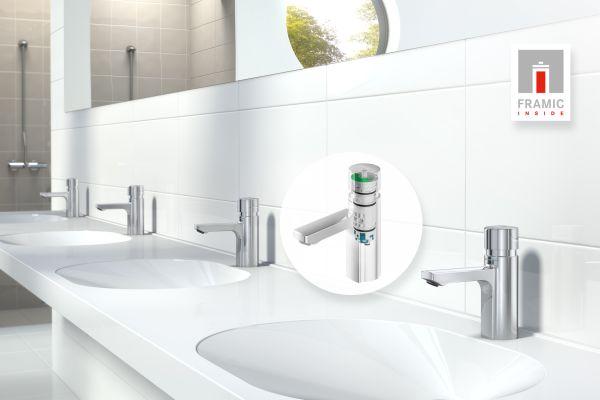 Werbebild für die Sanitärarmitur mit