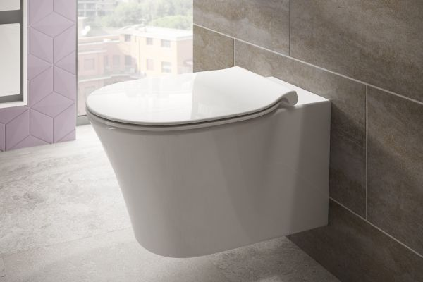 "Das wandhängende ""Connect Air""-WC von Ideal Standard."