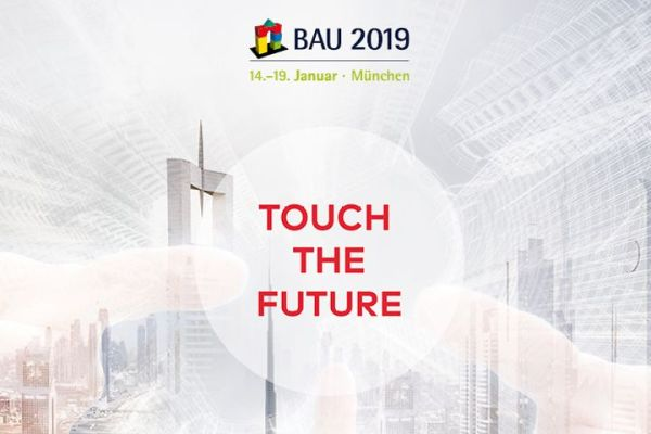 Banner von dormakaba zur BAU 2019.