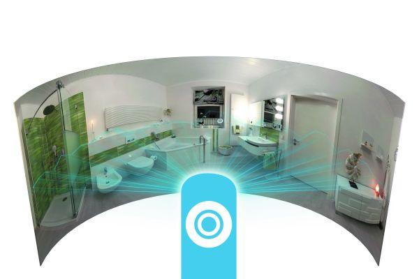 Mit der 360°-Kamera können fertiggestellte Bäder ganz einfach aufgenommen und in die virtuelle Ausstellung gestellt werden.