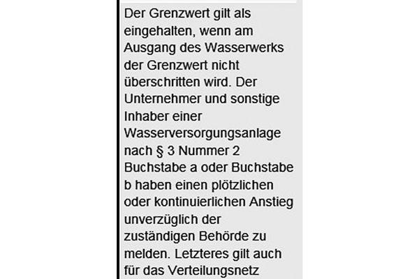 """Bemerkungen des DVGW zu Anlage 3 """"Indikatorparameter"""" der Trinkwasserverordnung."""