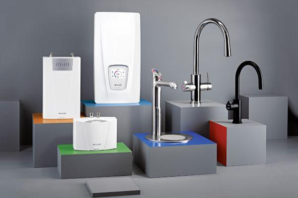 Das Bild zeigt die Produktneuheiten zur ISH.