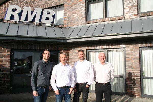 David Plaggenborg, Marketingleiter, Jens und Henning Brake, Geschäftsführer, sowie Jürgen Zastrow, Vertriebsleiter bei RMB/Energie.