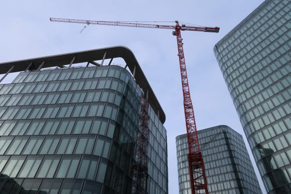 Baustelle der Bavaria Towers.