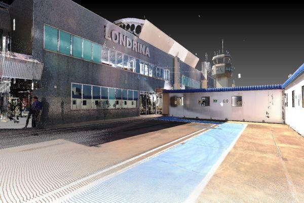 """Ein digitaler Zwilling des brasilianischen """"Londrina Airports""""."""