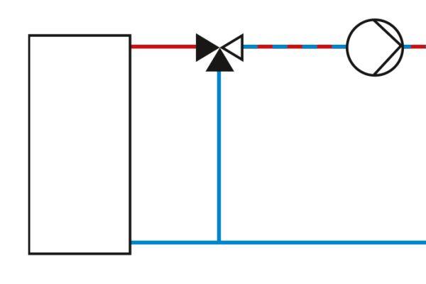 Schaltplan einer Beimischschaltung.