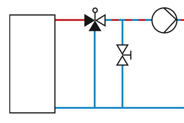 Schaltplan einer Bypass-Schaltung.