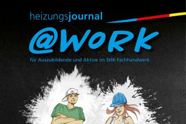 Cover einer @work-Zeitschrift.