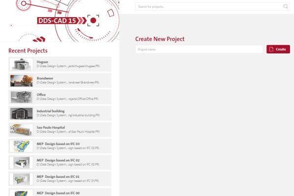 Screenshot der Startseite von DDS-CAD.