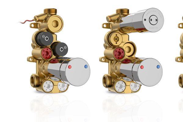 Die vier verschiedenen Varianten der adaptiven Multifunktions-Wasserstrecke