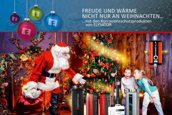 Frohe Weihnachten wünscht Elysator